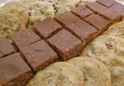 Chocolate Chip Cookies and Mars Bars Squares