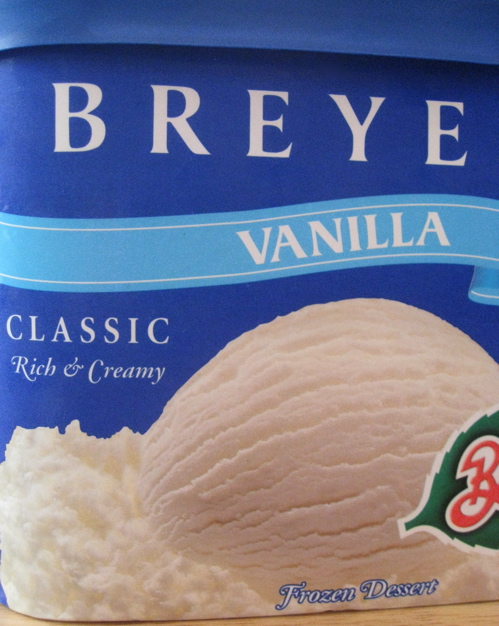 Breyers Vanilla Frozen Dessert - not ice cream!