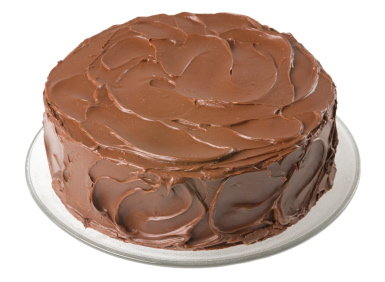 For Valentine's Day – a basic chocolate cake with lots of ...