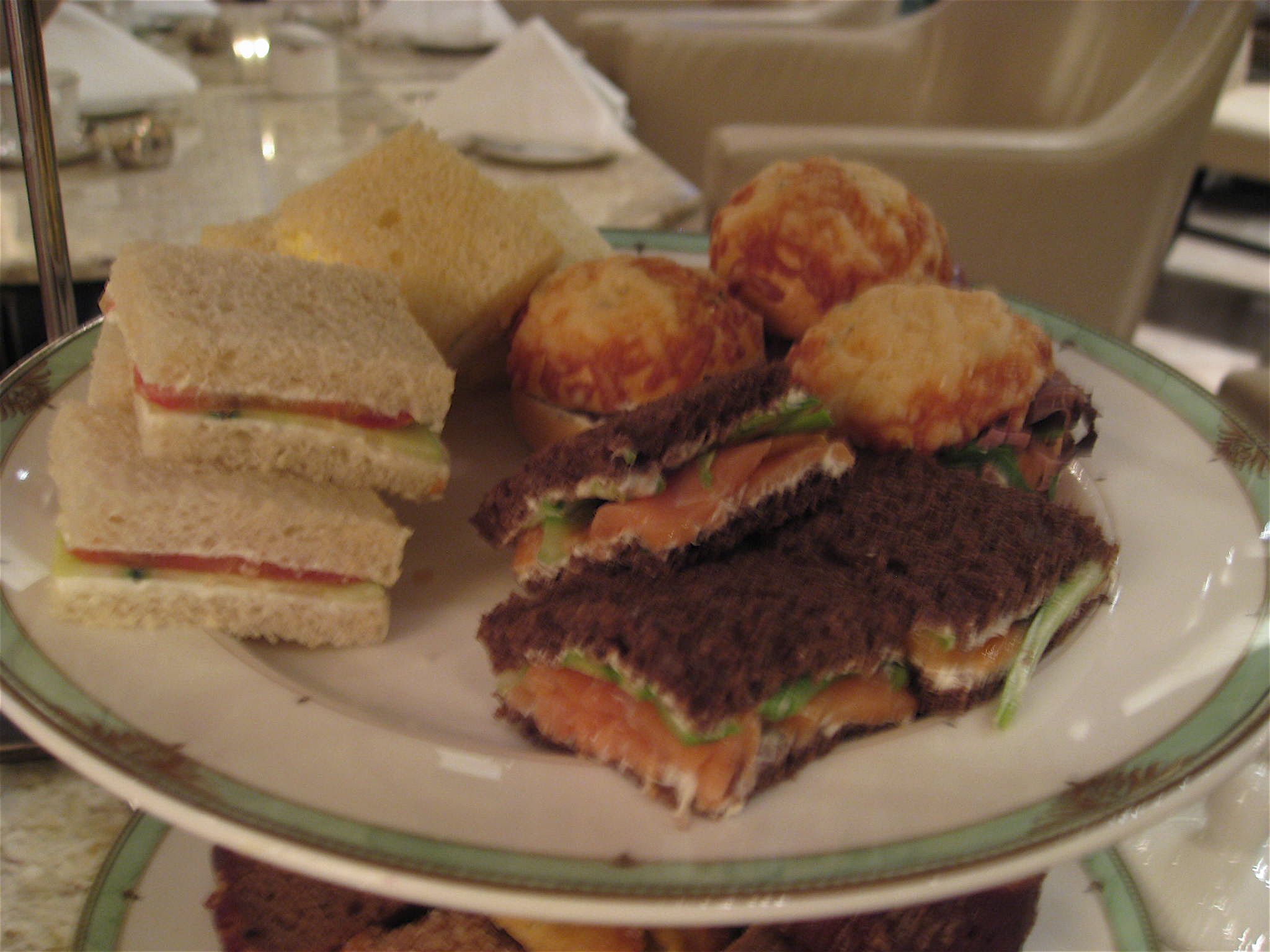 e85cc5b705 The sandwich plate served at afternoon tea at The Drake Hotel ...