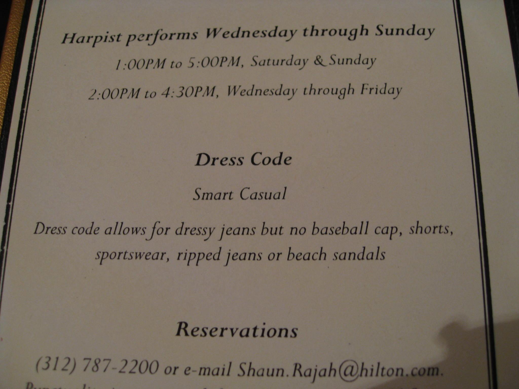 Dress Code for High Tea