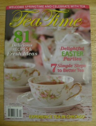 Tea Time magazine with article about tea rooms in Chicago